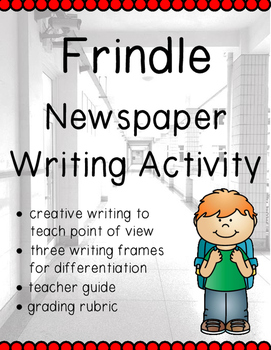 Frindle: Writing a Newspaper Article Activity