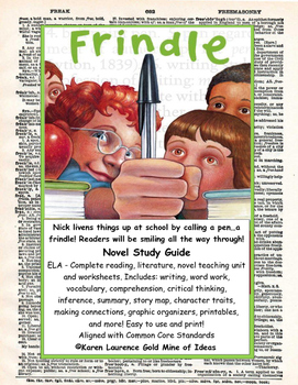 Frindle by Andrew Clements ELA Novel Literature Study Guid