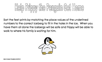 Frippy the Penguin Place Value