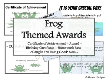 Frog Awards Set