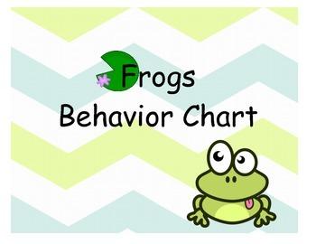 Frog Behavior Chart