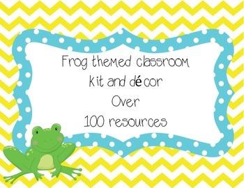 Frog Classroom Decor Kit