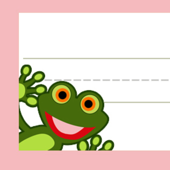 Frog Classroom Labels and Desk Plates by Katelyn Rose