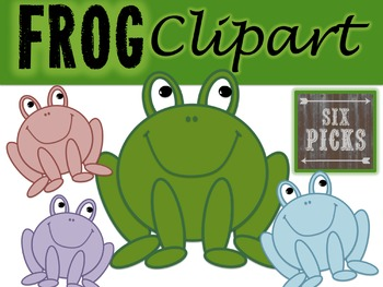 Frog Clipart {4 Colors}