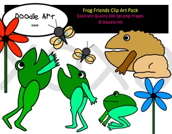 Frog Friends Clipart Pack