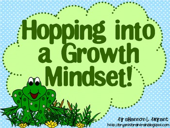 Frog Growth Mindset Posters (Hopping into a Growth Mindset!)