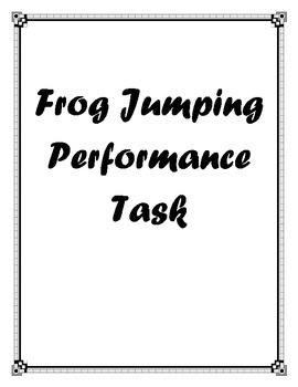 Frog Jumping Performance Task - Line plots