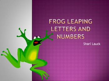 Frog Leapin Letters and Numbers