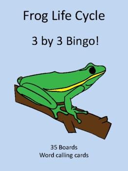 Frog Life Cycle 3 by 3 BINGO!