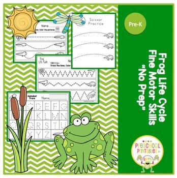 Frog Life Cycle -Fine Motor Skills - No Prep