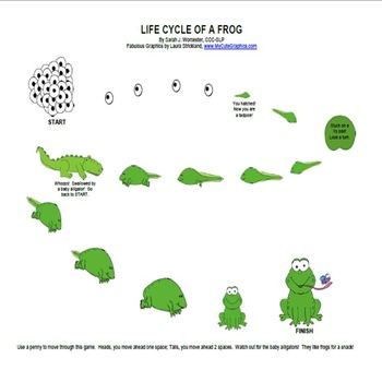 Frog Life Cycle-Open Ended Game Board