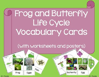 Frog and Butterfly Life Cycles Packet (with Bonus Posters