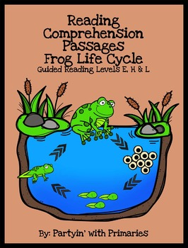Frog Life Cycle Reading Comprehension Passages: Guided Rea