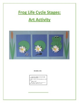 Frog Life Cycle Stages: Art Activity