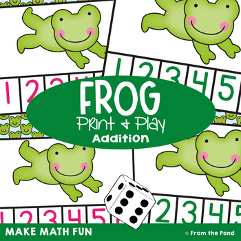 Frog - Math Center Game for Early Number and Subitizing