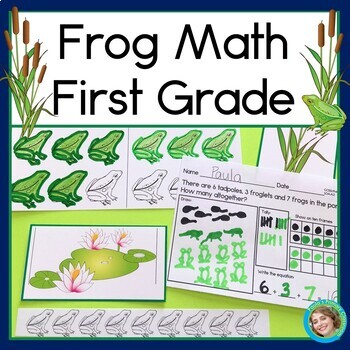 Frog Math for First Grade (Addition, Subtraction, Graphing