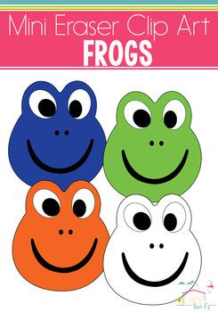 Frog Mini Eraser Clip Art
