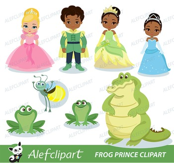Frog Prince Digital Clipart For Personal And Commercial Us