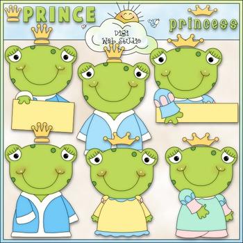 Frog Prince & Princess 1 - Commercial Use Clip Art & Black
