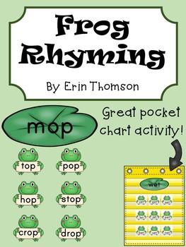 Frog Rhyming Word Sort