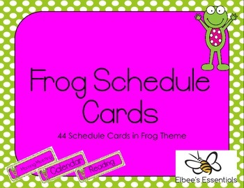 Frog Schedule Cards (2)