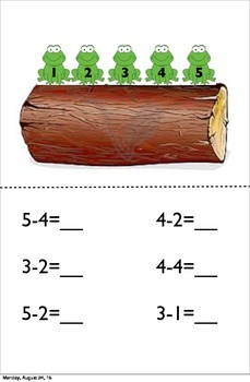 Frog Subtraction