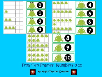 Tens Frame Flash Cards or Matching Game Cards With Numbers