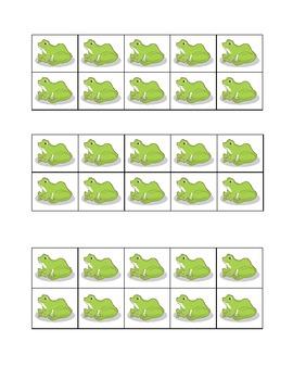 Frog Ten Frame Grid Game