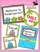 Frog Theme Classroom Labels and Templates - Editable Class