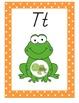 Frog Theme Alphabet Posters With Orange Border, Modern Man