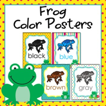Frog Theme Color Posters