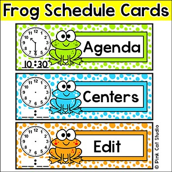 Frog Theme Schedule Cards