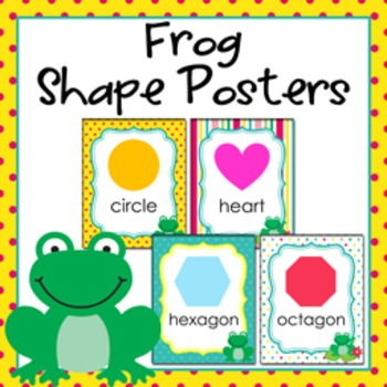 Frog Theme Shape Posters