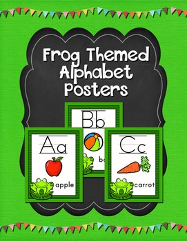 Frog Themed Alphabet Posters Classroom Decor