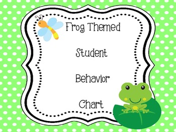 Frog Themed Behavior Chart - Clip System
