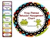Frog-Themed Behavior Clip Chart