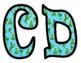 Frog Themed Bulletin Board Letters
