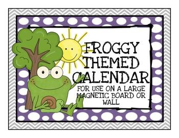 Frog Themed Calendar Set