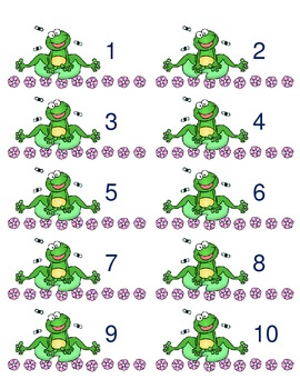 Frog Themed Labels (1-20)