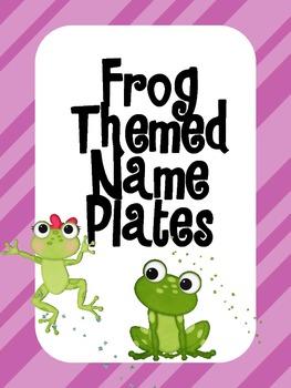 Frog Themed Name Plates