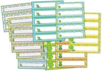 Frog Themed Name Tags // Plates