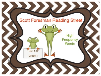 Frog Themed Scott Foresman Reading Street High Frequency W