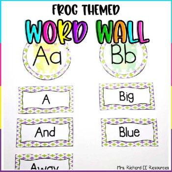 Frog Themed Sight Word Wall Headers and Word Cards