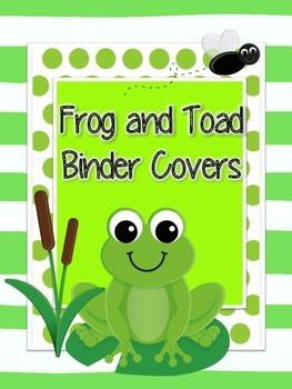 Frog Binder Covers