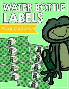 Frog Water Bottle Labels