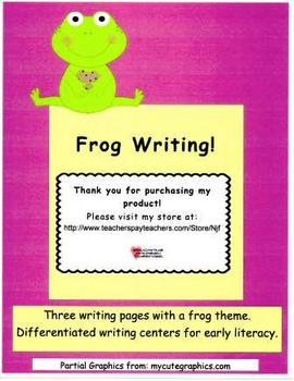 Frog Writing Pages Set