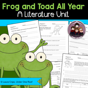 Frog and Toad All Year Literature Study