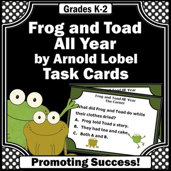 frog and toad reading comprehension task cards