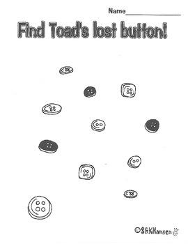 """Frog and Toad Are Friends, """"The Lost Button"""""""