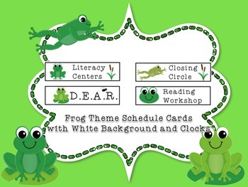 Frog and Toad Class Schedule Cards